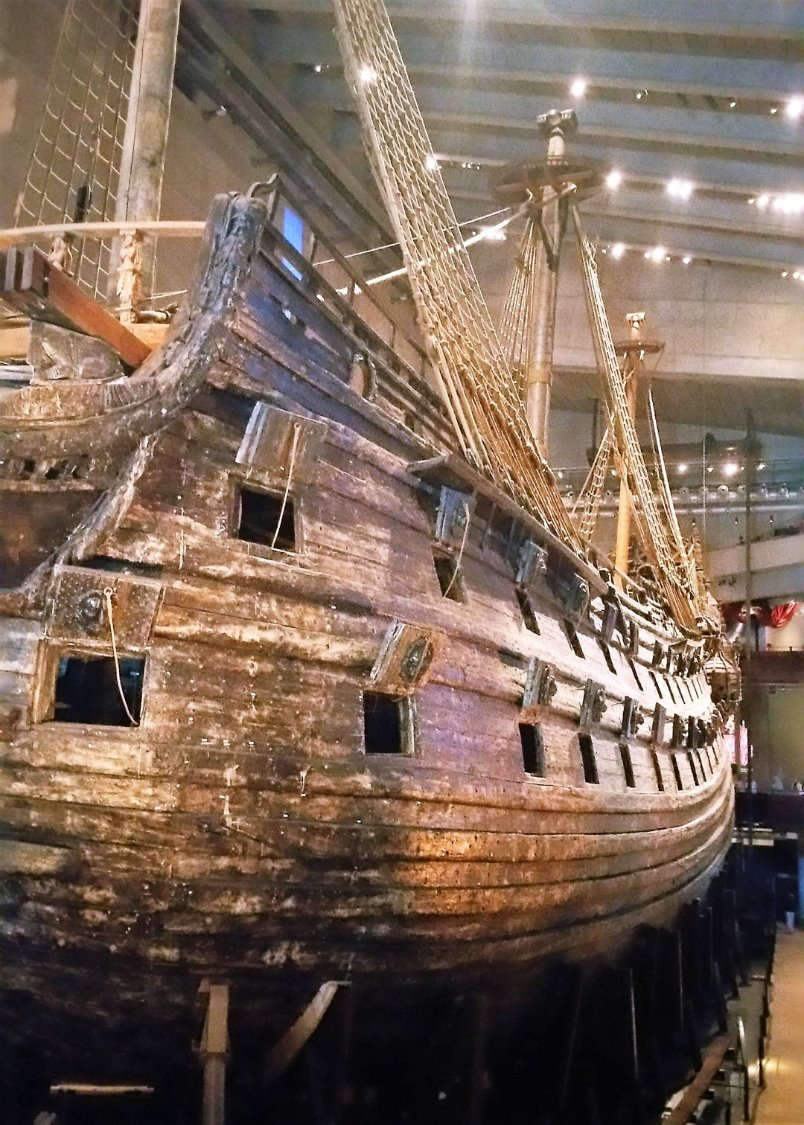 An image of the Vasa Warship. -Scandinavian cruise