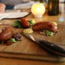 Tasty sausage at Ayden Kitchen in Saskatoon