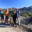Hiking friends, Conejo Valley above Malibu