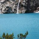Waterfall, Lago 69 Peruvian Andes