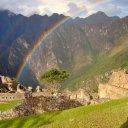 Rainbow over Machu Picchu Peru