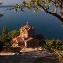 St John Church overlooking Lake Ohrid, Macedonia