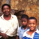 Man with Children Stonetown Zanzibar