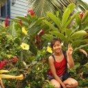 Happy visitor to Kona Hawaii