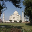 Taj framed by trees