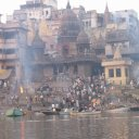 """The Burning Ghat - bodies washed in Ganges, then burned. """"Forbidden photo"""""""