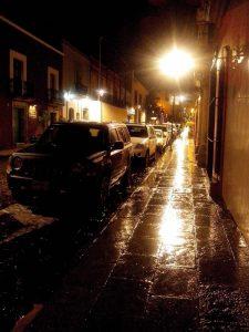 Noche de lluvia en Oaxaca