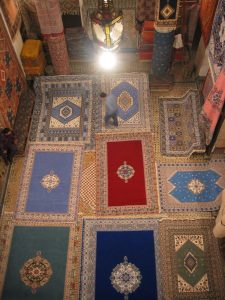 Large rugs laid out for us all over the floor; we had to walk to the 2nd story to get a good view of all these