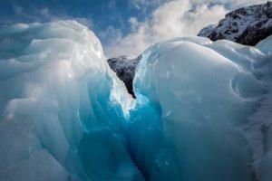 Ice crevasse in Fox Glacier