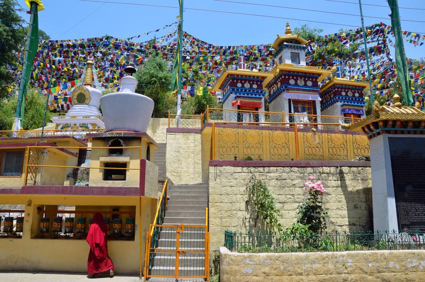 Buddhist stipa in McLeod Ganj,India