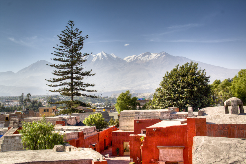 View over the city of Arequipa, Peru