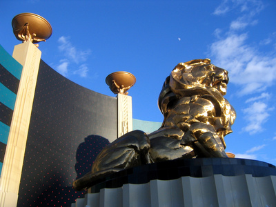 lion at mgm grand hotel