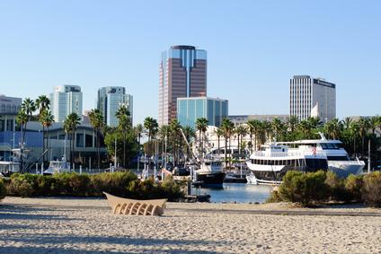 Waterfront of Long Beach in Los Angeles metropolitan area