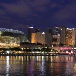 singapore skyline night time