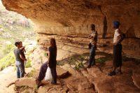Ancient Bushman cave paintings