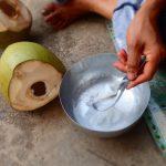 preparing coconut thailand