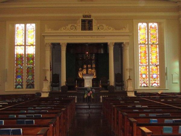 Interior of Kahal Kadosh Beth Elohim Synagogue