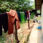 drying clothes thai village