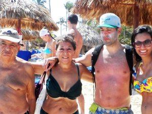 DR-Punta Cana-Mazin, Muna, Margarita on beach