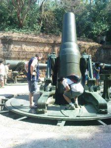 Vintage weapon at Corregidor