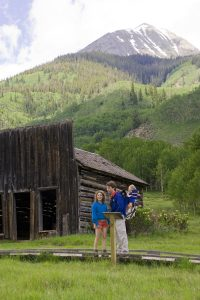 A family outing to Ashcroft, a ghost town near Aspen. Image Credit:  Denise Chambers/Miles