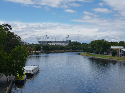 Looking At The MCG From The Princes Bridge in the world sporting capital of Melbourne