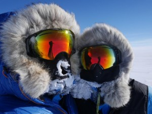 Ben Saunders and Tarka L'Herpiniere on day 50 of the Scott Expedition in Antarctica