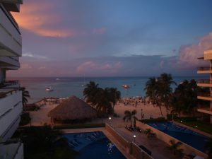 Isla Mujeres Sunset from Ixchel Beach Hotel.