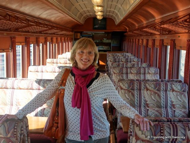 """Lounge car on Napa Valley Wine Train"""