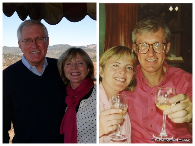 """""""Traveling with Sweeney on the Napa Valley Wine Train in 2014 and 1992"""""""
