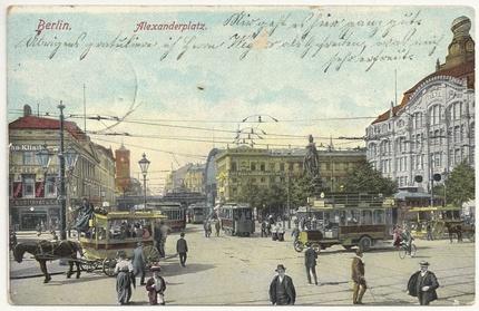 Berlin Alexanderplatz 1908 (hist. Postkarte)