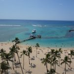 """Duke Kahanamoku Beach at the Hilton Hawaiian Village, Honolulu"""