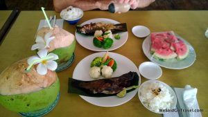 Delicious lunch on Carp Island