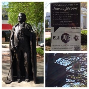 James Brown statue on Broad St.