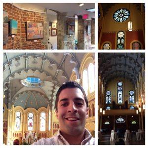 Inside the Sacred Heart Cultural Center