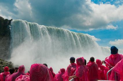Tourist at Niagara Falls, Ontario, Canada