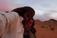 Hanging out with my host in Wadi Rum
