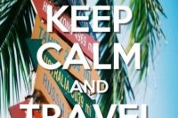 keep calm travel poster