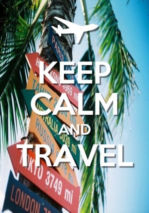 keep calm travel poster