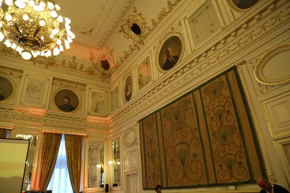 Inside of the grand ballroom, Corinthia Hotel