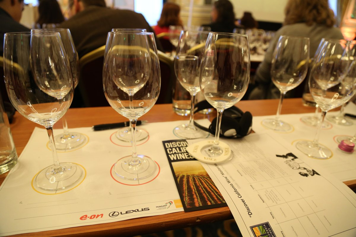 Tasting through wines from California