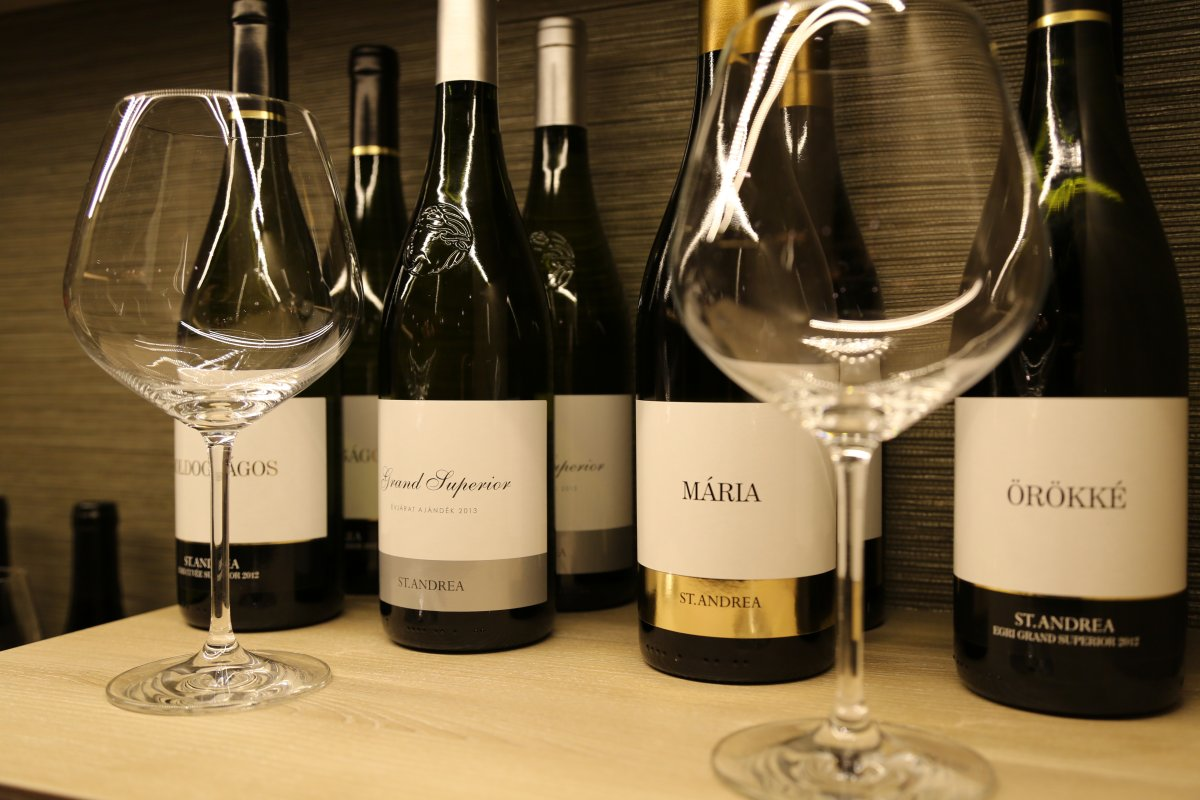 A lineup of St. Andrea Wines