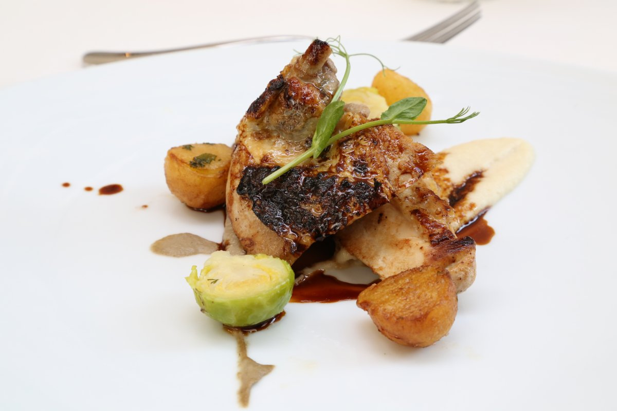 A most appetizing lunch at the Brassiere Restaurant, Corinthia Hotel - Guinea Fowl