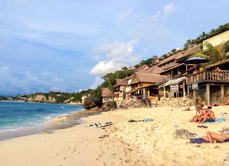 Chilled out Bingin Beach