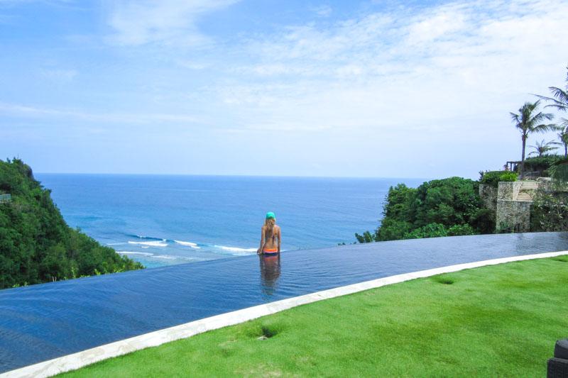 Infinity pool at the top of Finn's Beach Club