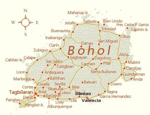 Map-Bohol