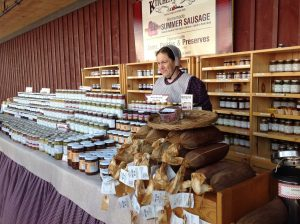 St Jacob's Farmers Market - homemade Mennonite sausages & pickles for sale