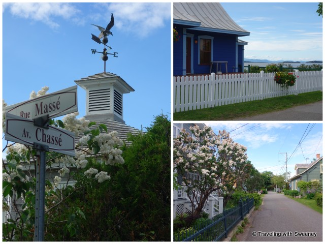 Along the streets of charming Kamouraska, weather vanes and curved eaves are common sights.