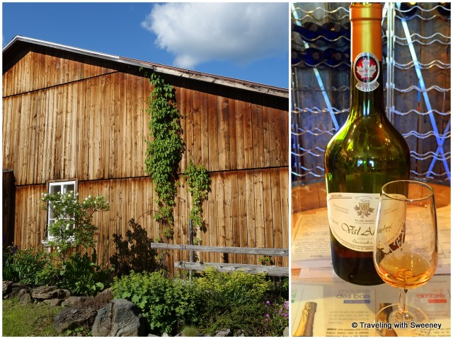 Domaine Acer in Auclair, Québec; a taste of one of four maple-based spirits, Val Ambré