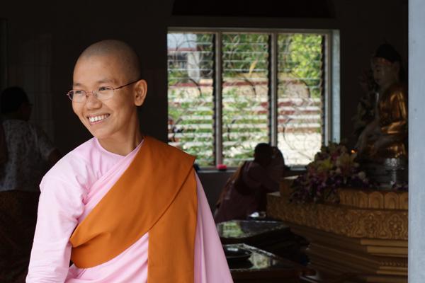 Beaming nun at Sagaing nunnery